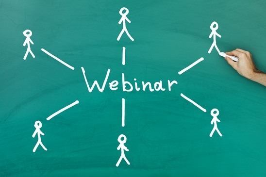 Webinar blue stick figures